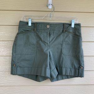 White House Black Market khaki shorts
